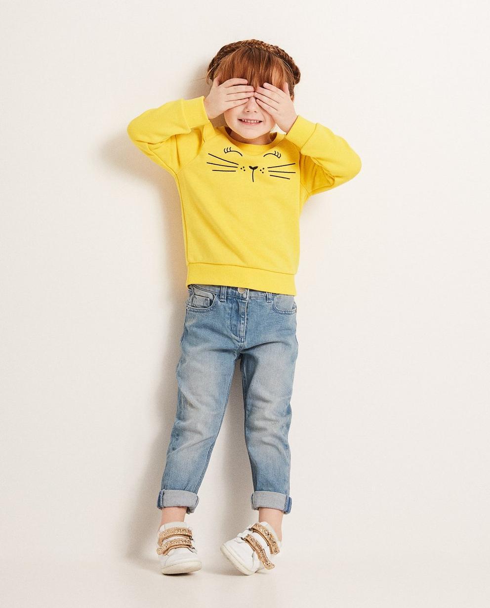 Sweatshirt mit Katzenprint - und Ohren - JBC